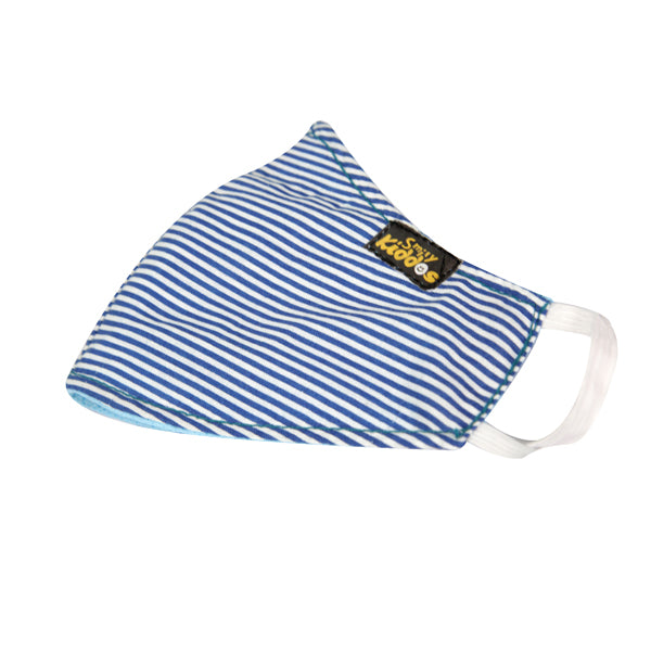PACK OF 10 REUSABLE COTTON MASK BLUE