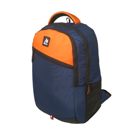 Image of Mike College Backpack - Orange & Blue