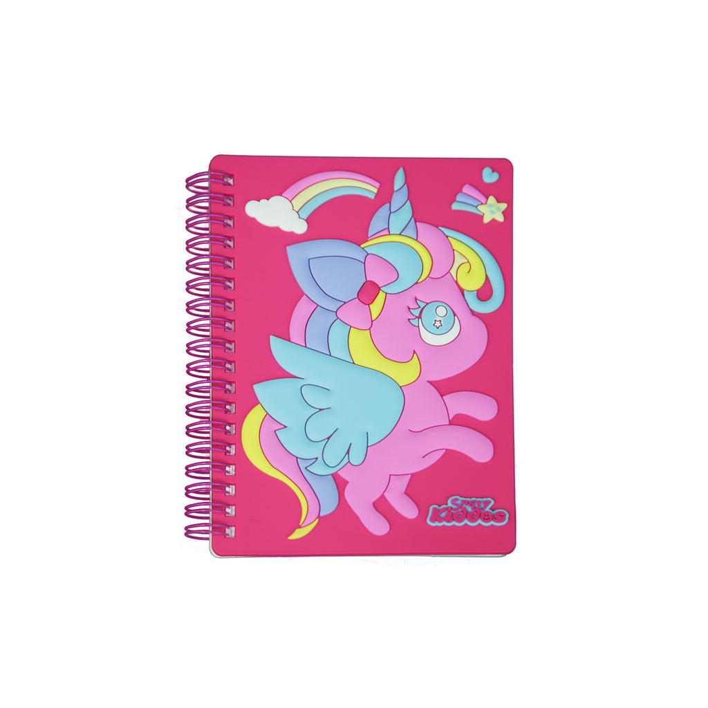 Smily Spiral Unicorn Notebook