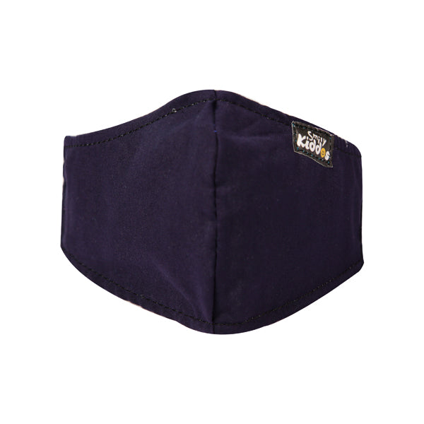 PACK OF 10 REUSABLE COTTON MASK DARK BLUE