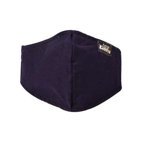Image of PACK OF 10 REUSABLE COTTON MASK DARK BLUE