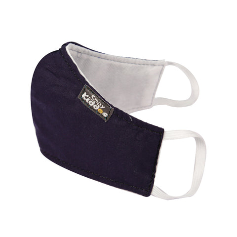 PACK OF 20 REUSABLE COTTON MASK DARK BLUE