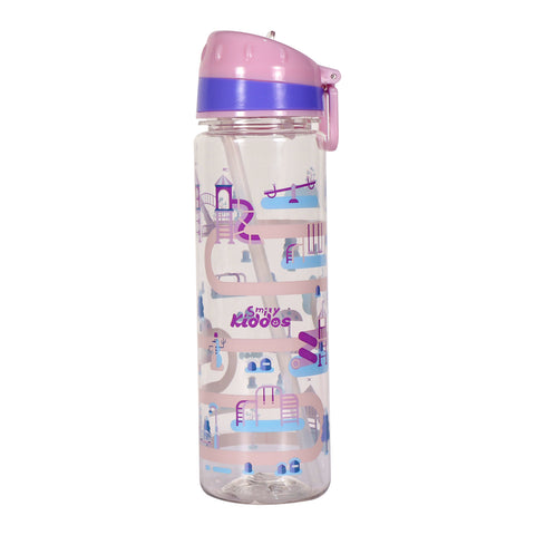 Image of Smily Kiddos Straight Water Bottle Pink