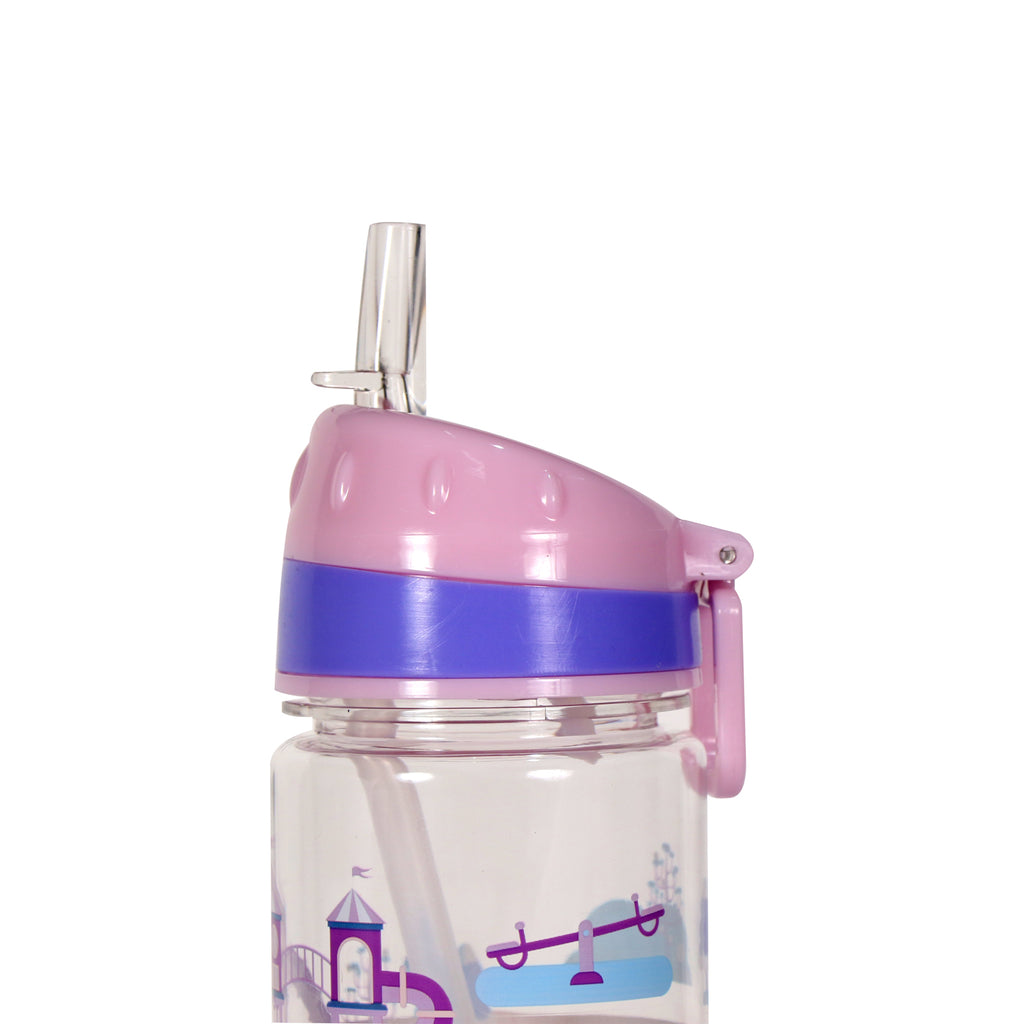 Smily Kiddos Straight Water Bottle Pink