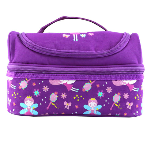 Image of Smily Dual Slot Lunch Bag Purple