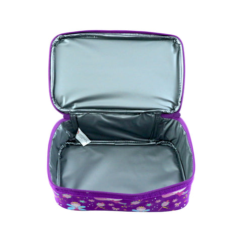 Smily Dual Slot Lunch Bag (Purple)