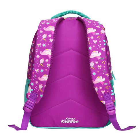 Smily Dual Color Backpack Fairy Theme Purple