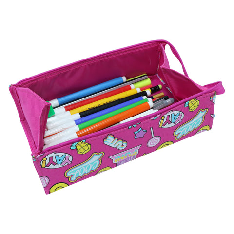 Image of Smily Tray Pencil Case Fun Theme Pink