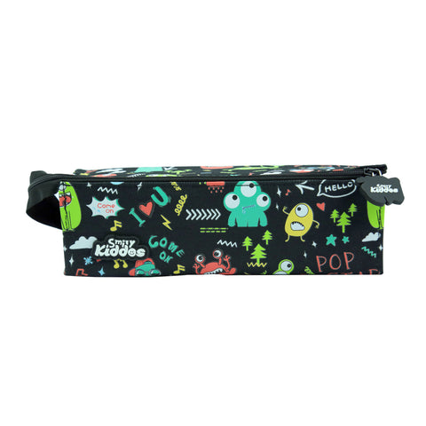 Smily Tray Pencil Case Black