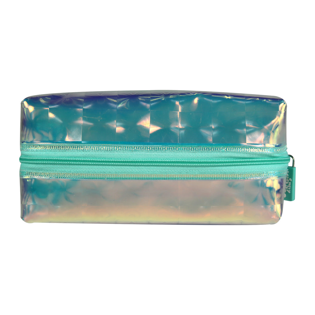 Smily Transparent Cosmetic Pouch Silver