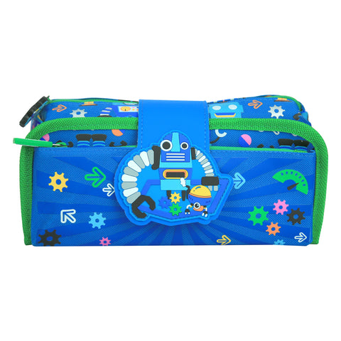Image of Fancy Strap Pencil Case (Blue)