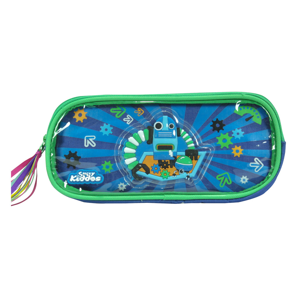 Fancy Transparent Pencil Case Blue