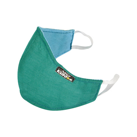 Image of PACK OF 10 REUSABLE COTTON MASK GREEN