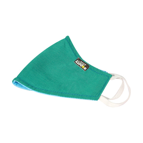 PACK OF 10 REUSABLE COTTON MASK GREEN