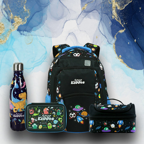 Image of Space theme comb- backpack,lunch bag,pencil case,water bottle