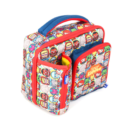 Image of Smily Multicompartment Lunch Bag Super Hero Theme - Red