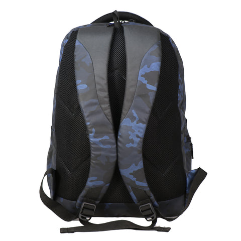 Image of Mike Camo Laptop Backpack - Blue & Black