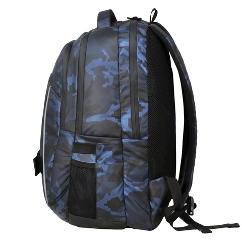 Mike Camo Laptop Backpack - Blue & Black