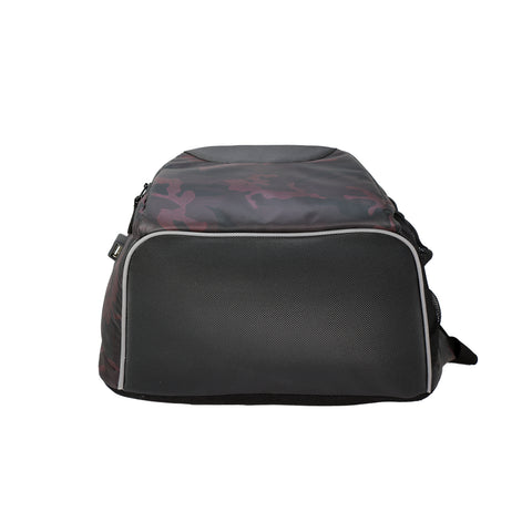 Image of Mike Camo Laptop Backpack - Maroon & Black