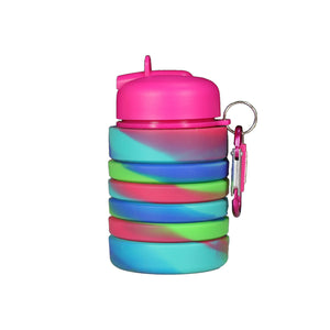 Silicone Expandable & Foldable Water Bottle Pink & Purple