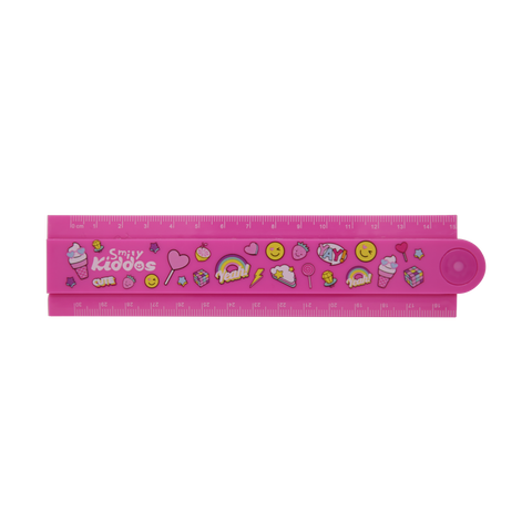 Image of Smily Fold Up Ruler Pink