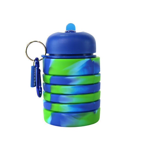 Silicone Expandable & Foldable Water Bottle Dark Blue