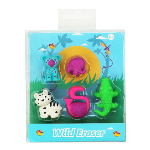 Image of Fancy Wild Eraser Set
