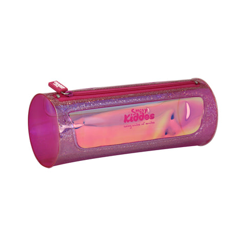 Smily Sparkle Translucent Pencil Pouch Purple