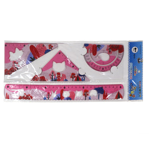 Smily 30 cm Rulers Set pink - 4pcs