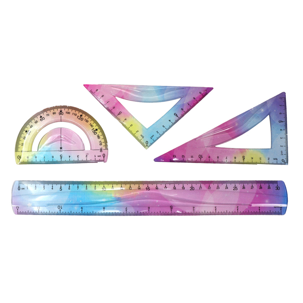 Smily 30 cm Rulers Set rainbow- 4pcs