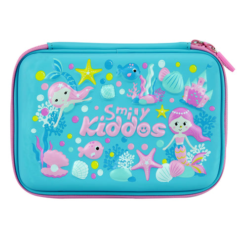 Smily Single Compartment Pencil Case (Light Blue)