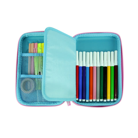 Image of Smily Single Compartment Pencil Case Light Blue