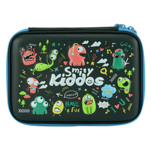 Smily Single Compartment Pencil Case (Black)