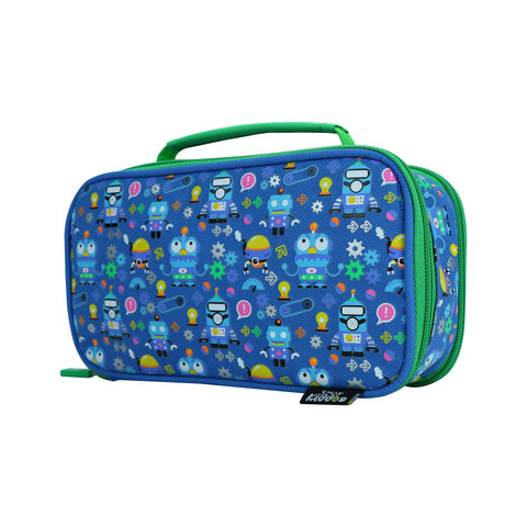 Smily Multipurpose Pencil Case Crazy Robo Theme Blue