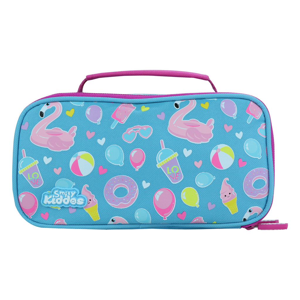 Smily Multipurpose Pencil Case Swan Theme (Light Blue)