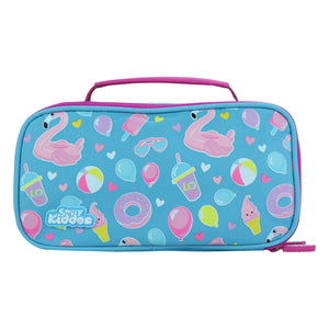 Smily Multipurpose Pencil Case Swan Theme Light Blue