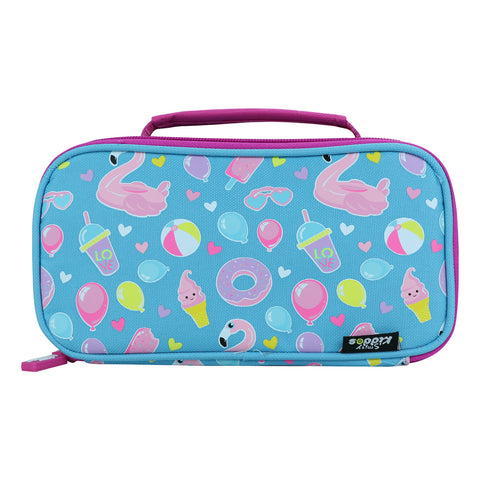 Image of Smily Multipurpose Pencil Case Swan Theme (Light Blue)