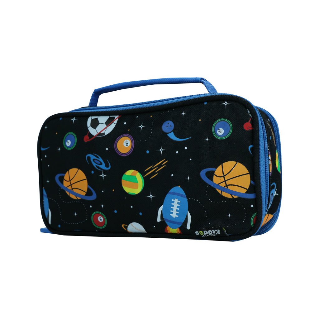 Smily Multipurpose Pencil Case Space Theme Black