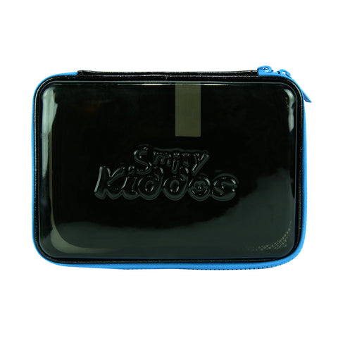 Smily Pvc Pencil Case Black
