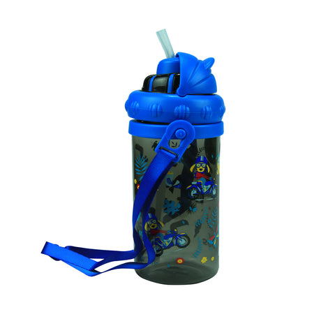Smily Sipper Water Bottle Black