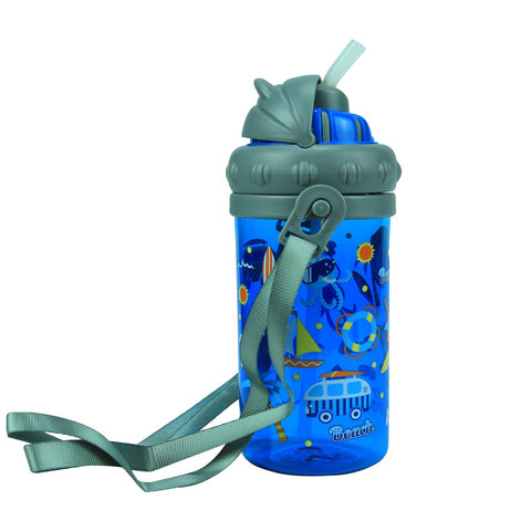 Image of Smily Sipper Water Bottle Blue