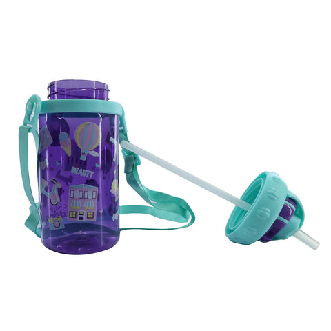 Image of Smily Sipper Water Bottle Purple