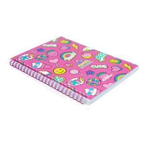 Smily A5 Lined Notebook Pink