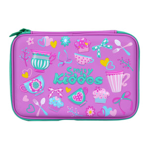 Smily Double Compartment Pencil Case Purple