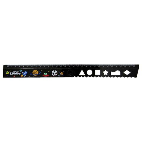 Image of Smily Fold Up Ruler Black