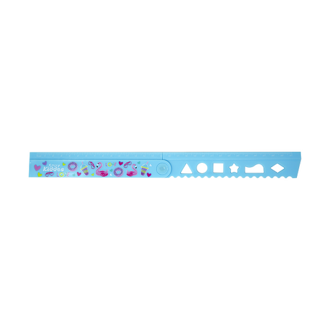 Smily Fold Up Ruler Light Blue