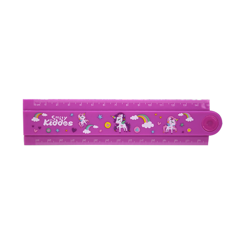 Smily Fold Up Ruler Purple