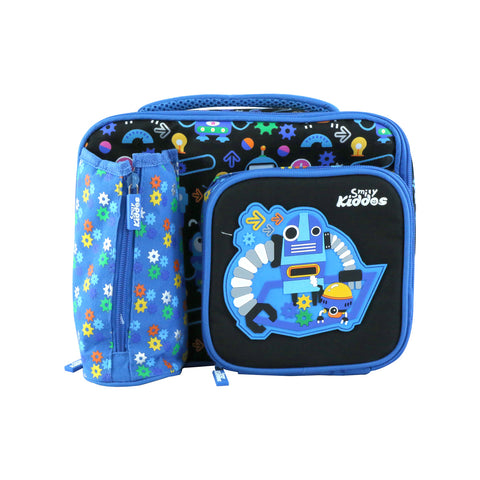 Image of Smily Multi Compartment Lunch Bag ( Blue )