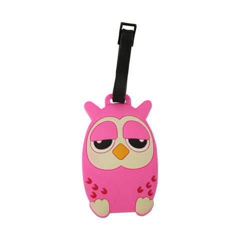 Image of Smily Owl Shape Luggage Tag