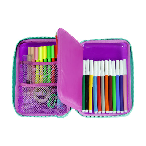 Smily Pvc Pencil Case Purple